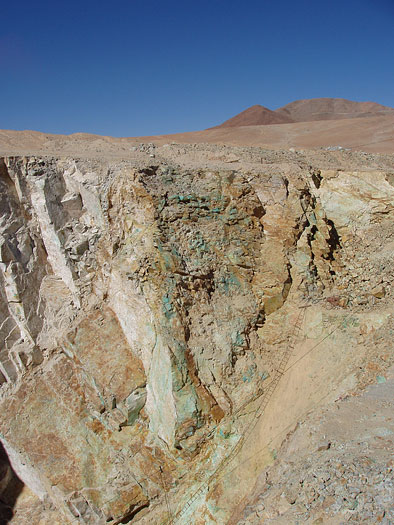 Copper mineralization in Chile