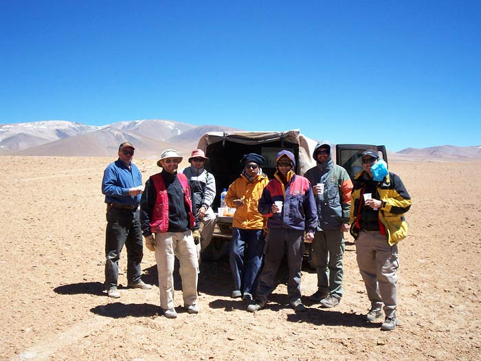 Discovery geologists and Argentinean geologists in the Argentine Puna