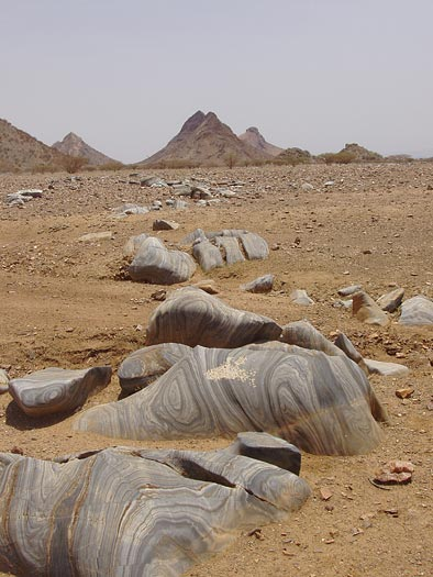 Marble outcrop in Eritrea