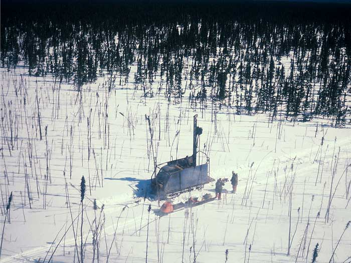 Sonic drilling of overburden in northern Saskatchewan