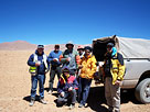 Discovery geologists and Argentinean geologists employed by Wealth Minerals taking a lunch break in the Argentine Puna