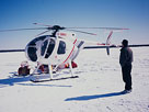 Helicopter support on a winter diamond drilling program in northern Saskatchewan